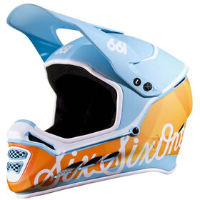 SixSixOne Reset MIPS Casque intégral, geo blue/orange